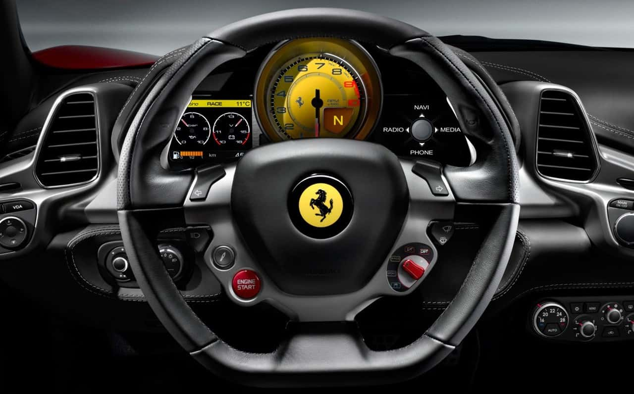 Steering-Wheel-Ferrari-458-Series-Sports-Car-Wallpaper-5-e1428092667666