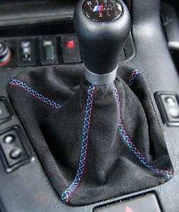 pomo BMW acantara negra, hilo M